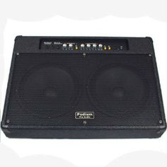 """New Electric Guitar Dual 10"""" Speakers Pro Audio Overdrive Amplifier G-210 by Podium Pro Audio. $139.99. SpecificationsBrand New Guitar Amp with Speakers100 Watts RMS & 200 Watts MaxFrequency Response is 28-18,000 HzTwo 10"""" Woofers1/4"""" Jack Guitar Input1/4"""" Jack Send Input1/4"""" Jack Return Input1/4"""" Headphone OutputIndependent Volume, Treble and Bass DialsNotch Button with Hz Control DialShape Button for Mid Dip ControlOverdrive Switch and Dial ControlsConstructed with High Qu..."""