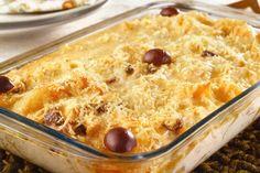 COMIDINHAS FÁCEIS: Bacalhau gratinado com queijo e batata