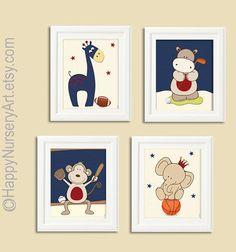 Nursery wall art prints sports nursery footbal by HappyNurseryArt