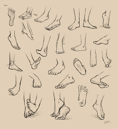 Feet Reference by =Ninjatic on deviantART