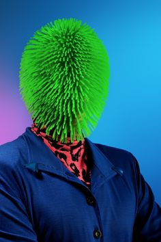Julien Palast. Rubber koosh headpiece. Gratefully repinned by RokStarroad.com