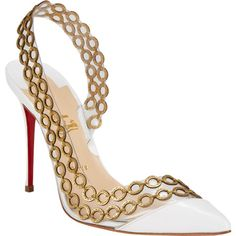 Christian Louboutin Malaika Half dOrsay Slingback Pumps omgshoes fashion high-heel shoes for women Pretty Shoes, Beautiful Shoes, Zapatos Shoes, Shoes Heels, Strap Heels, Ankle Strap, Christian Louboutin Outlet, Red High Heels, Black Pumps