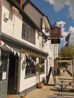 The 15th century Woolpack Inn, known as The Wooley and Tenterden Town Hall built in the 18th century, Kent, England, by B Lowe
