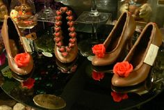Chocolate shoes....combining the two things girls love the most: SHOES and CHOCOLATE :)