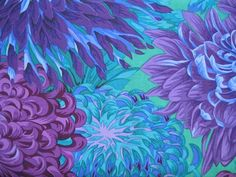 Phillip Jacobs Collection - Blue Purple Turquoise Japanese Chrysanthemum