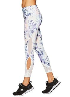 RBX Active Women's Mesh Pilates Fashion Workout Yoga Leggings Purple M
