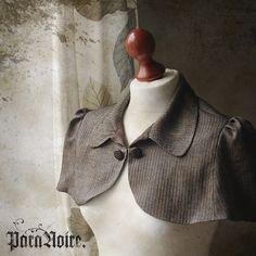 Anouschka - Tweed Sherlock Holmes edition herringbone mini capelet.  By ParaNoire on etsy (49 euroes)