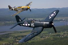 Warbirds P-51 Mustang & Corsair. Makes me think of my grandpa ):