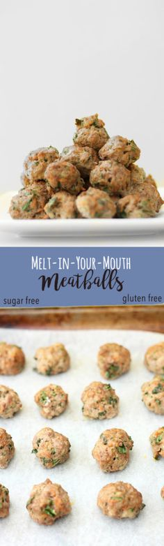 Melt-in-Your-Mouth Meatballs | Raising Sugar Free Kids - a delicious sugar free and gluten free meal that freezes well and keeps the whole family happy, these meatballs are healthy, vegetable-packed and cheap. Click to get the recipe!
