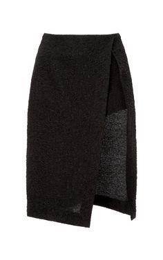Jacquard Wrap Effect Skirt by Thakoon