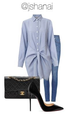 """""""Untitled #91"""" by jshanai on Polyvore featuring Levi's, Chanel and Christian Louboutin"""