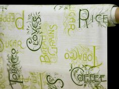 Ubrus PVC bez textilního podkladu 2830B, zelené nápisy, š.130cm (metráž) | Internetový obchod Chci POVLEČENÍ.cz Bullet Journal, Internet