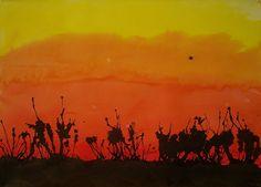Use Your Coloured Pencils: Bushfire Paintings Classroom Art Projects, Art Classroom, Australian Art For Kids, Australian Animals, Summer School Themes, School Ideas, Primary School Art, Primary Education, Weather Art