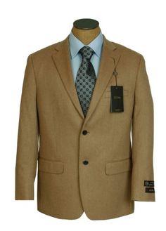 Tasso Elba Mens 2 Button Camel Tan Solid Camelhair « Clothing Impulse  Master Tailor 2717793bb50