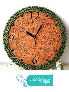 Celtic wooden wall clock from WOODANDROOT http://www.amazon.com/dp/B01DOIWMUA/ref=hnd_sw_r_pi_dp_Wtavxb1KM6BBS #handmadeatamazon