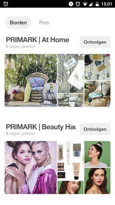 Ook Primark houdt zijn pinterestpagina mooi up-to-date en toont de collecties aan zijn volgers! https://nl.pinterest.com/Primark/