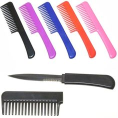 Concealed Knives Blue CIA Agent Comb with Hidden Knife CKBL Knives For Sale and Swords 2013 - Oh snap!