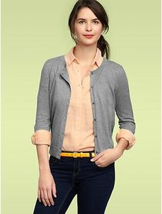 Have a tired light gray cardigan similar to this. A few holes and stretched out. It's on the block.
