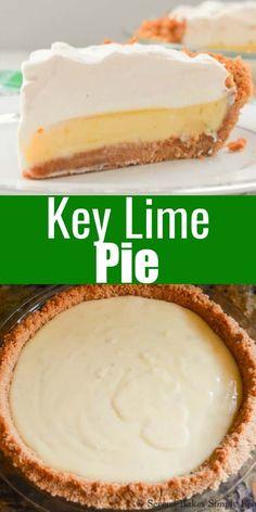 Key Lime Desserts, Lemon Dessert Recipes, Easy Pie Recipes, Lime Recipes, Tart Recipes, Easy Desserts, Sweet Recipes, Delicious Desserts, Curry Recipes