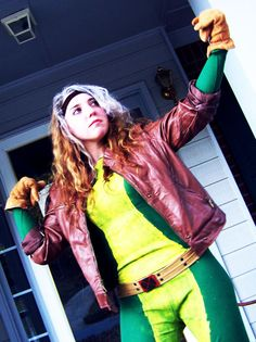 Makeshift homemade Rogue cosplay costume.