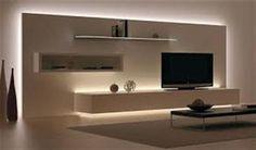 obývací stěna pokoj podhledy - Hledat Googlem
