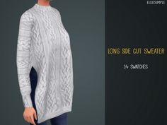 Long Side Cut Sweater by elliesimple