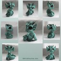Tiny Green Water Dragon 2 by BittyBiteyOnes