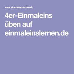 4er-Einmaleins üben auf einmaleinslernen.de