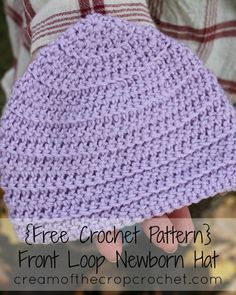 Cream Of The Crop Crochet ~ Front Loop Newborn Hat {Free Crochet Pattern} Crochet Baby Hats, Free Crochet, Stylish Baby Boy, Newborn Hats, Baby Shower Gifts, Free Pattern, Crochet Patterns, Babies, Stitch