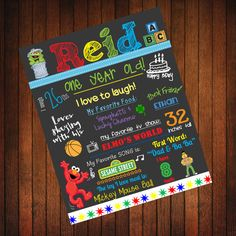 Custom Birthday Poster Sesame Street Theme by ThatsSoCuteEtsyShop, $36.00