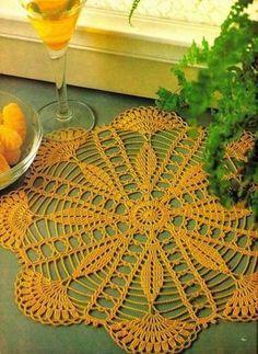 Diy Crafts - Magic Crochet Magazine August 1988 Issue by KnitKnacksCreations Free Crochet Doily Patterns, Crochet Doily Diagram, Crochet Lace Edging, Crochet Round, Thread Crochet, Crochet Designs, Crochet Flowers, Crochet Table Runner, Crochet Tablecloth
