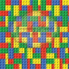 NEW ITEM 7ft x 7ft LEGO Blocks Birthday Party / by SwankyPrints, $110.99