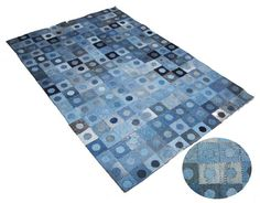 Recycled Denim Rugs,Recycle Denim Patches Rug,Denim Recycled Rug Exporters & Suppliers