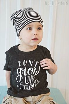 Don't Grow Up It's a Trap Modern Infant Tee
