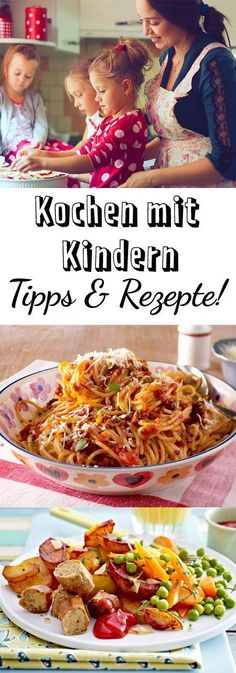 Cooking with children - the best tips and recipes DELICIOUS- Kochen mit Kindern – die besten Tipps und Rezepte Healthy Meals For Kids, Healthy Chicken Recipes, Easy Healthy Recipes, Vegetable Recipes, Baby Food Recipes, Kids Meals, Easy Meals, Delicious Recipes, Cooking For Beginners