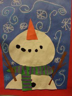 2nd grade snowman projects | 2nd Grade: Perspective Snowmen
