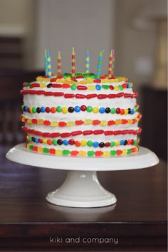 Grab your kids favorite candies and decorate their birthday cake with them!