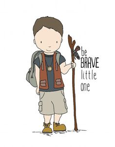 Be Brave Nursery Art Print from @Carrie Tomaschko's Sweet Melody Design! #nursery #wallart