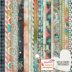 Hello There! {patterned} by Joyful Heart Designs on @creativemarket