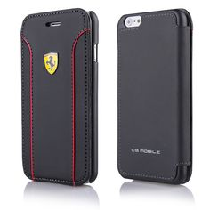 luxurious chrome and leather #ferrari case for #iphone 6 in matte