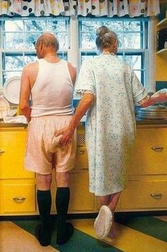 If we're lucky, we'll all be old when it's our turn. What's nice about being a couple is to have someone to share even the smallest things with and all the memories.