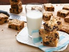 Thick and Chewy Peanut Butter Chocolate Chip Bars from CookingChannelTV.com