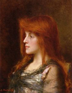Portrait of a Young Beauty by Alexei Alexejewitsch Harlamoff