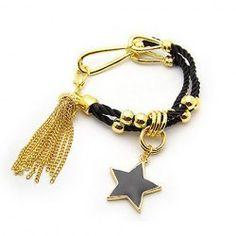 $2.83 Stylish and Fashion Star Shape Pendant Tassels Double Bracelet