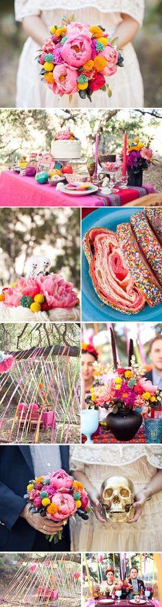 day of the dead wedding ideas | Rockabilly & Vintage outdoor Wedding Ideas / Day of the Dead Wedding