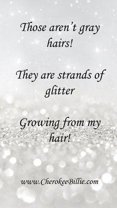 Strands of glitter