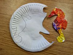 Seahorse craft  FREE Template