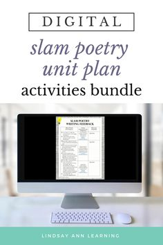 This no prep, engaging, CCSS-aligned slam poetry unit is packed with student-centered activities and assignments designed to promote inquiry and self-expression as students explore and write slam poetry / spoken word poetry. Writing poetry can be a fun, interactive, student-centered experience that engages every learner! Build writing, reading, speaking and listening, and meta-cognitive skills with these digital and print resources for Google Drive. #distancelearning #secondaryenglish Poetry Lesson Plans, Poetry Lessons, Poetry Unit, Writing Poetry, Writing Topics, Writing Prompts, Creative Writing Tips, Spoken Word Poetry, Slam Poetry