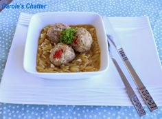 Pork Polpette with Pasta  by Carole's Chatter