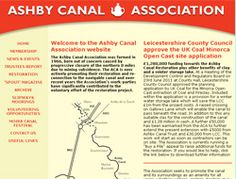 Ashby de la Zouch Canal Association  Welcome to the Ashby Canal Association website